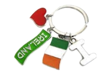 custom Ireland Souvenir Keychain wholesale manufacturer and supplier in China