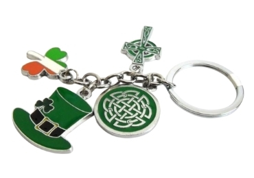 custom Ireland Souvenir Keyring wholesale manufacturer and supplier in China