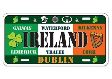 custom Ireland Souvenir License Plate wholesale manufacturer and supplier in China