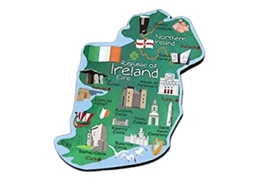 custom Ireland Wood Fridge Magnet wholesale manufacturer and supplier in China