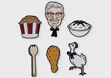 custom KFC Enamel Lapel Pin wholesale manufacturer and supplier in China