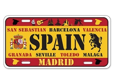 custom License Plate Spain wholesale manufacturer and supplier in China