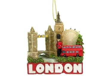 custom London Resin Christmas Ornament wholesale manufacturer and supplier in China