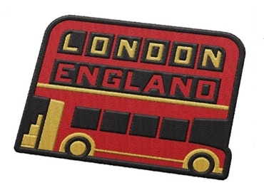 custom London Souvenir Embroidery Badge wholesale manufacturer and supplier in China