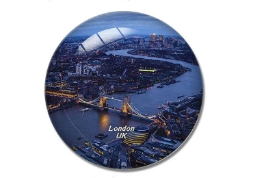 custom London Souvenir Glass Magnet wholesale manufacturer and supplier in China