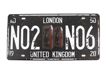 custom London Souvenir License Plate wholesale manufacturer and supplier in China
