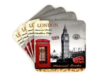 custom London Souvenir MDF Coaster wholesale manufacturer and supplier in China