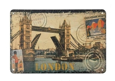 custom London Souvenir Tin Sign wholesale manufacturer and supplier in China