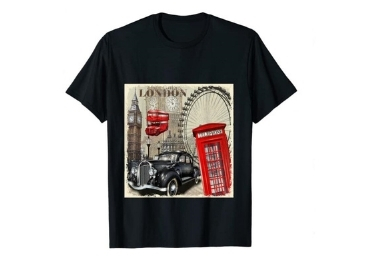 custom London Souvenirs Men T-shirt wholesale manufacturer and supplier in China