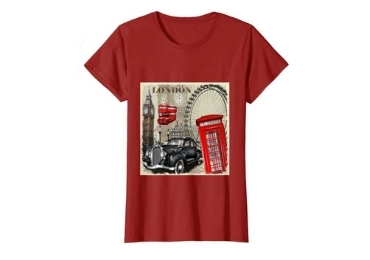 custom London Souvenirs Women T-shirt wholesale manufacturer and supplier in China
