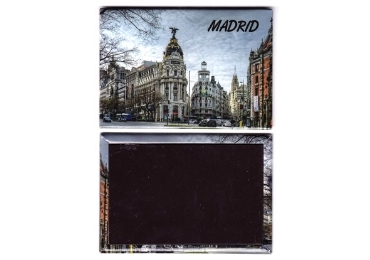 custom Madrid Souvenir Tinplate Magnet wholesale manufacturer and supplier in China