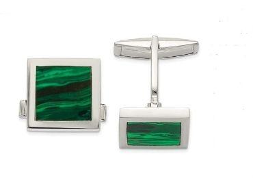 custom Malachite Gemstone Cufflinks wholesale manufacturer and supplier in China