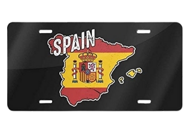 custom Metal Spain License Plate wholesale manufacturer and supplier in China