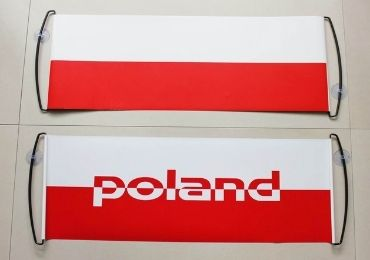 custom Poland Football Banner wholesale manufacturer and supplier in China