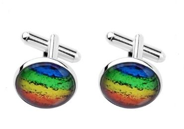 custom Rainbow Flag Cufflinks wholesale manufacturer and supplier in China