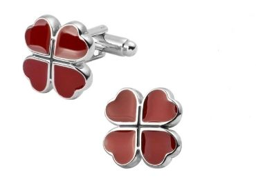 custom Red Clover Cufflinks wholesale manufacturer and supplier in China