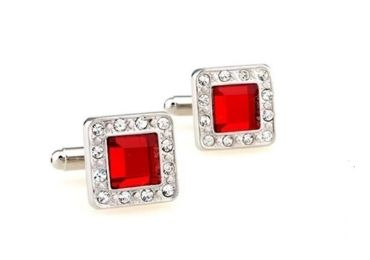 custom Red Gem Cufflinks wholesale manufacturer and supplier in China