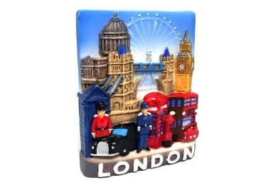 custom Resin London Souvenir Magnet wholesale manufacturer and supplier in China