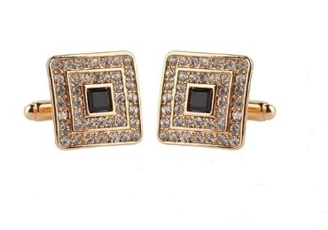 custom Rhinestone Crystal Cufflinks wholesale manufacturer and supplier in China