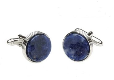 custom Sodalite Shirt Cufflinks wholesale manufacturer and supplier in China