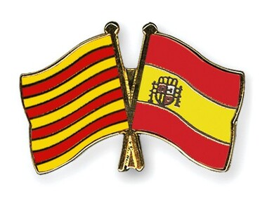 custom Souvenir Catalonia Flag Pin wholesale manufacturer and supplier in China