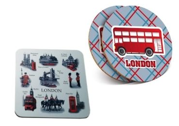 custom Souvenir Cities Cork Coaster wholesale manufacturer and supplier in China