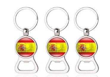 custom Spain Bottle Opener Keyring wholesale manufacturer and supplier in China