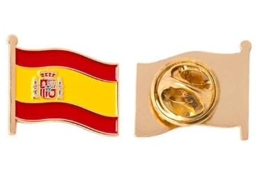 custom Spain Flag Enamel Pin wholesale manufacturer and supplier in China