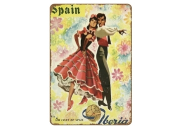 custom Spain Souvenir Tin Sign wholesale manufacturer and supplier in China