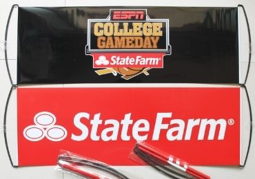 custom State Farm Sports Banner wholesale manufacturer and supplier in China