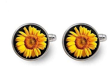 custom Sunflower Cufflinks wholesale manufacturer and supplier in China