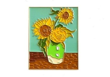 custom Sunflower Enamel Pin wholesale manufacturer and supplier in China