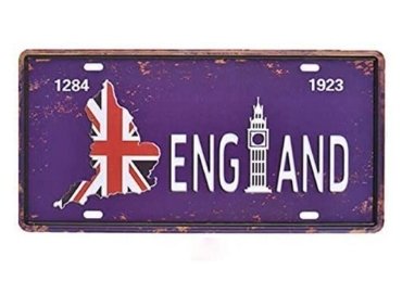custom UK Souvenir License Plate wholesale manufacturer and supplier in China