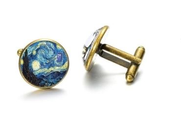 custom Van Gogh Art Painting Cufflinks wholesale manufacturer and supplier in China