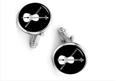 custom Violin Cufflinks wholesale manufacturer and supplier in China