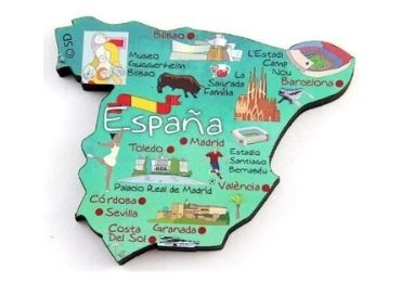 custom Wooden Spain Souvenir Magnet wholesale manufacturer and supplier in China