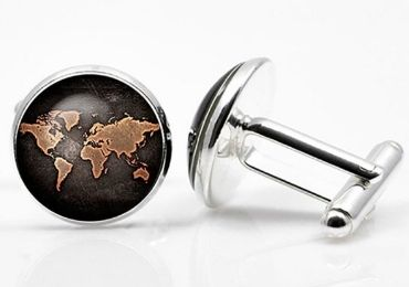 custom World Map Cufflinks wholesale manufacturer and supplier in China