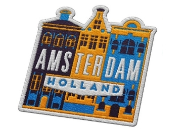 custom Amsterdam Souvenir Embroidery Badge wholesale manufacturer and supplier in China