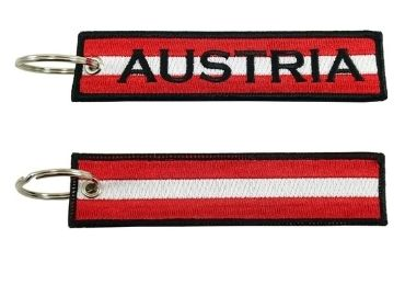 custom Austria Embroidery Souvenir Keychain wholesale manufacturer and supplier in China
