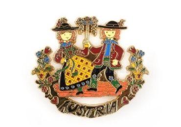 custom Austria Souvenir Lapel Pin wholesale manufacturer and supplier in China