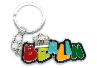 custom Berlin Souvenir Enamel Keychain wholesale manufacturer and supplier in China