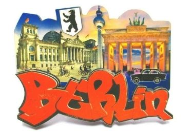 custom Berlin Souvenir Wooden Magnet wholesale manufacturer and supplier in China