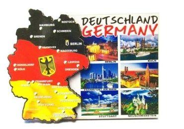 custom Deutschland Souvenir Wood Magnet wholesale manufacturer and supplier in China