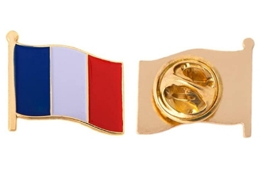 custom France Souvenir Lapel Pin wholesale manufacturer and supplier in China