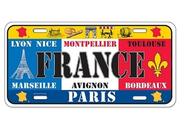 custom France Souvenir License Plate wholesale manufacturer and supplier in China