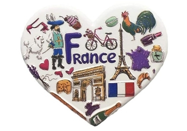 custom France Souvenir Resin Magnet wholesale manufacturer and supplier in China