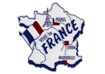 custom France Souvenir Rubber Magnet wholesale manufacturer and supplier in China