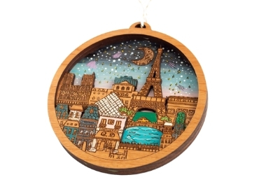 custom France Wooden Christmas Ornament wholesale manufacturer and supplier in China