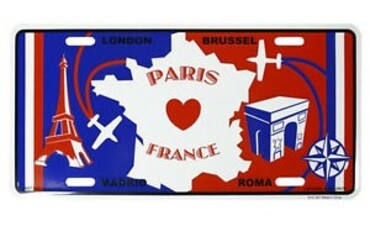 custom French Souvenir License Plate wholesale manufacturer and supplier in China