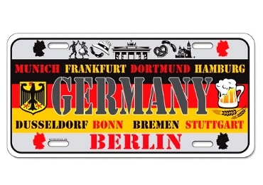 custom Germany Souvenir License Plate wholesale manufacturer and supplier in China